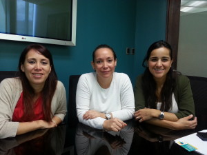 From left to right: CER General Manager - Vivian López; Psychologist & Ultrasound Technician - Karla López; Administrative Assistant - Gaby Najarro
